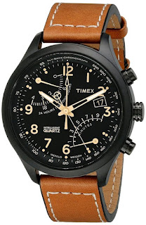 Timex Men's T2N700 Intelligent Quartz SL Series Fly-Back Chronograph Brown Leather