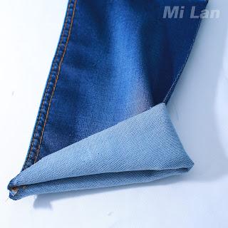 Vải Jean bố 2 da Bé gái thun nhẹ K48