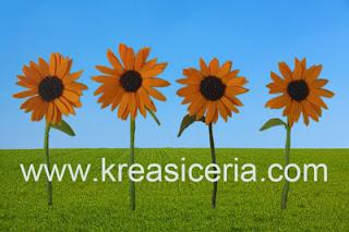 Bunga matahari yang indah dari kain flanel