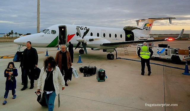Voo de Lisboa a Sevilha, avião da Portugália Airlines