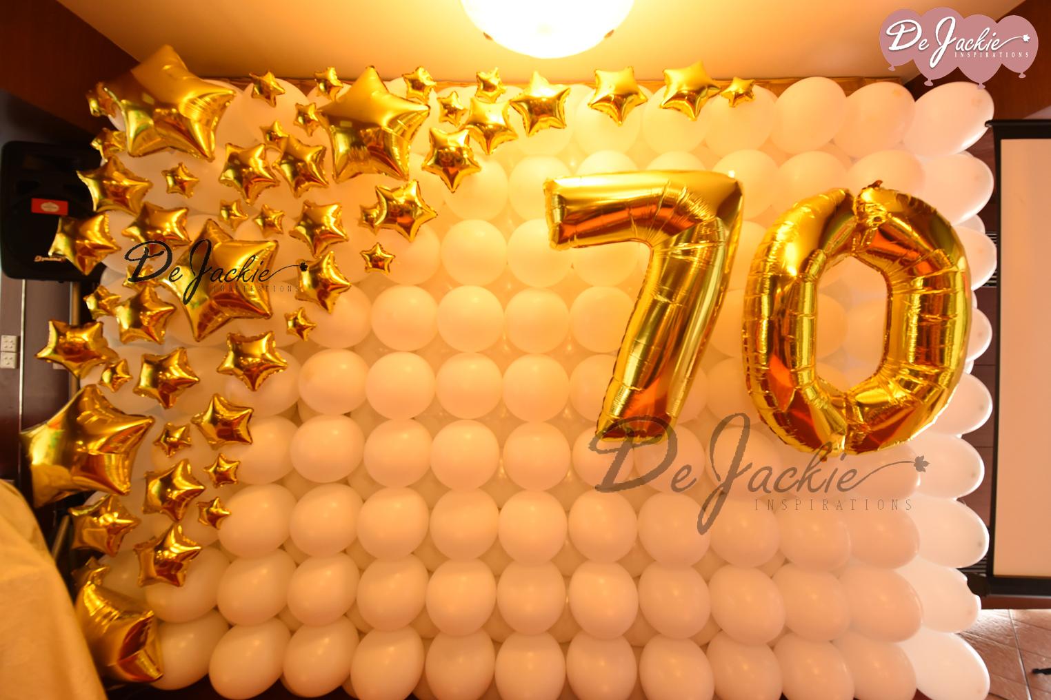 70th Birthday Balloon Decoration Lok Thian Restaurant Kuching
