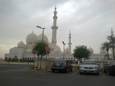 Shaikh Zayed Bin Sultan Al Nahyan Mosque picture taken from parking area