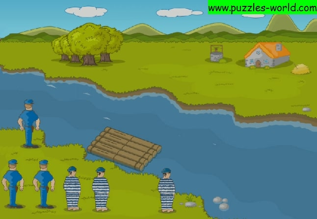 River Crossing Puzzle - Three cops and three robbers