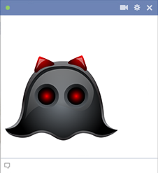 Black Ghost - Facebook Sticker