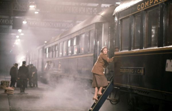 Greta Ohlsson (Ingrid Bergman) boarding the Orient Express