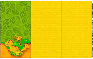 Dinosaurs Party Free Printable  Labels.