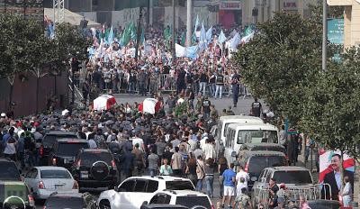 la proxima guerra disturbios funeral manifestantes beirut libano atentado coche bomba