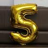 Balon Foil Angka Besar Warna Gold