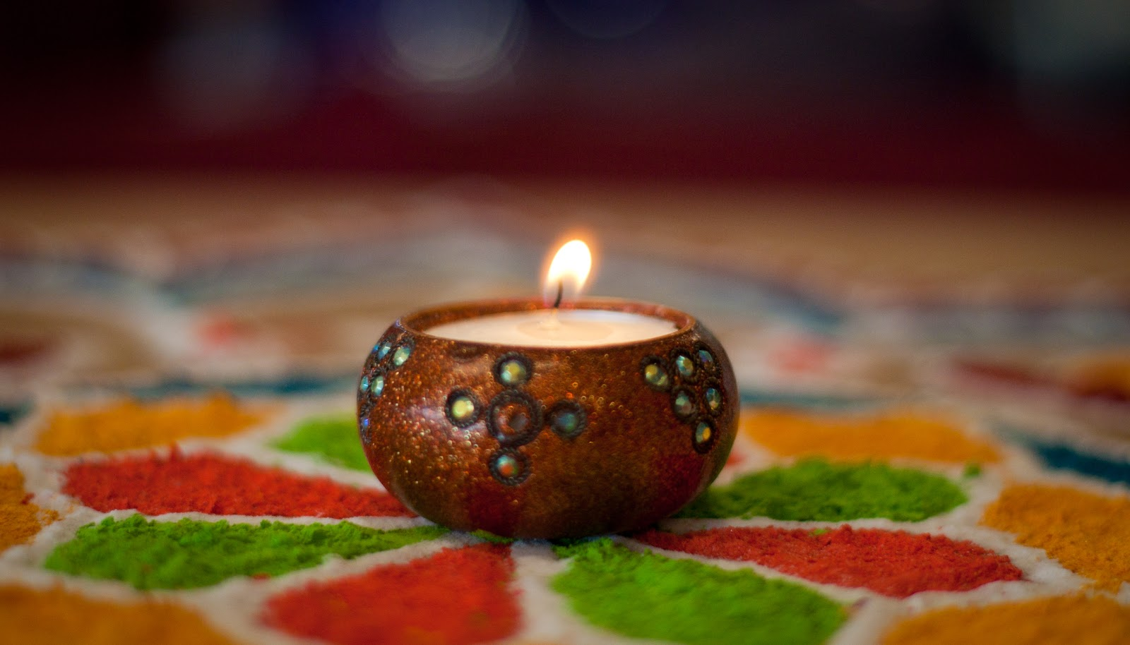 Diwali, Rangoli and Lights in Varanasi