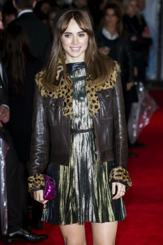 Suki Waterhouse pairs Lanvin dress with vintage jacket for the 'Love, Rosie' London premiere