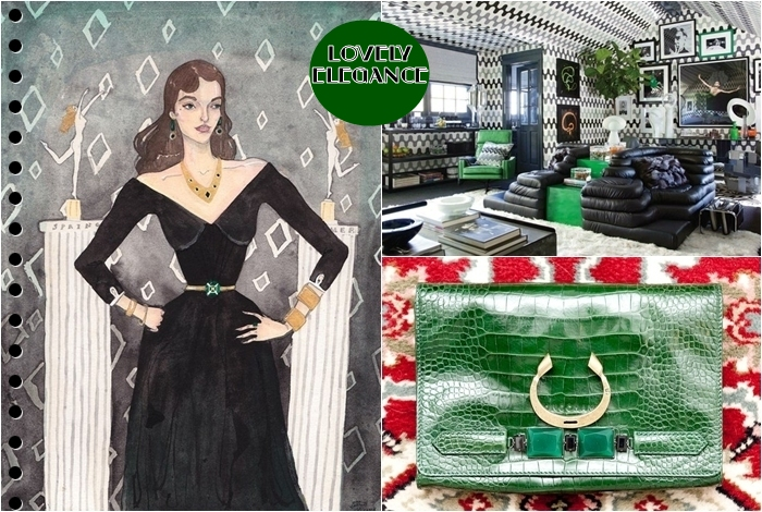 green and black color combination inspiration