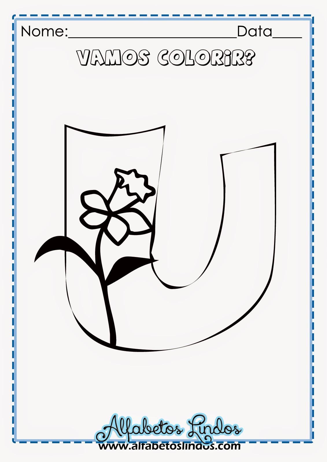 Alfabeto De Primavera Para Colorir Pintar Imprimir Gratis Moldes