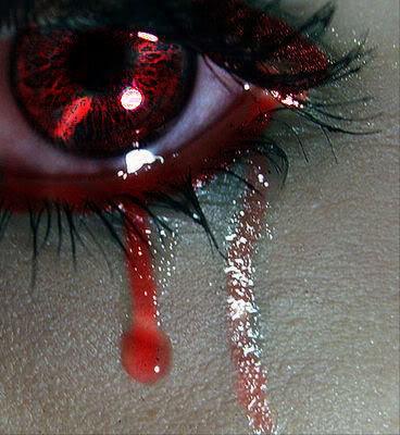 Sadness - Crying tears of blood