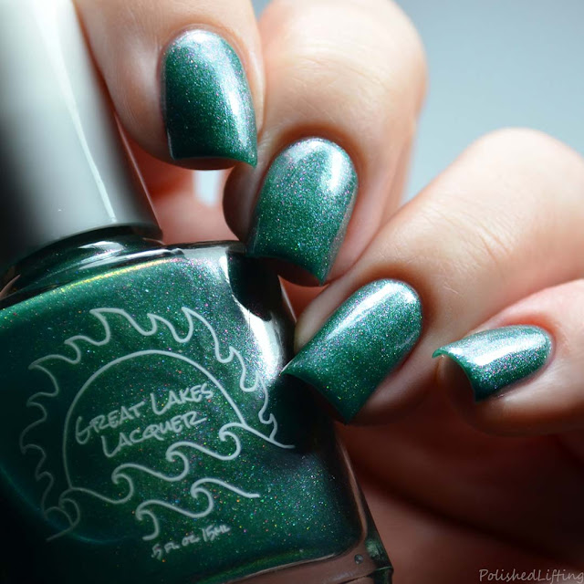 jade nail polish with color shifting shimmer