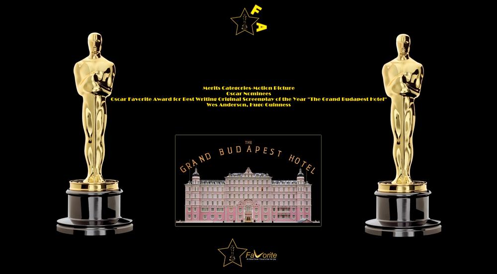 oscar favorite best writing original screenplay award-wes anderson-hugo guinness-the grand budapest hotel