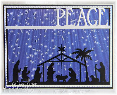 Our Daily Bread Designs Paper Collection: Christmas Card 2016, Our Daily Bread Designs Custom Dies: Peace Border, Flourished Star Pattern, Pierced Rectangles