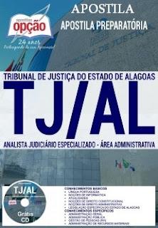 Apostila TJ de Alagoas (vídeo aula GRÁTIS) Analista Judiciário