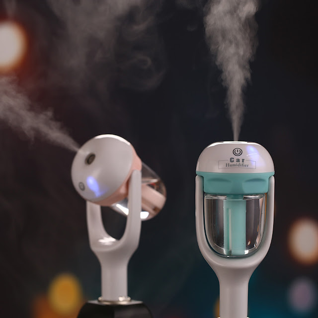 car air humidifier and aromatherapy oil diffuser, diffuser, essential oil diffuser, air humidifier, clogged nose, relief for clogged nose, car accessory, how to get relief from clogged nose while driving?