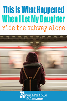Raising independent kids is a huge parenting goal of mine, which is why I let my daughter ride the subway alone. Other parents raised their eyebrows and called it 'free range parenting,' but I loved the life skills she gained from the trip and you can read all about why in this article. #independentkids #lifeskills #children #freerange #parenting #unremarkablefiles