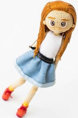 Каркасная кукла девочка крючком