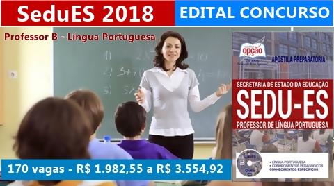 Apostila SeduES 2018 - Professor B - Língua Portuguesa