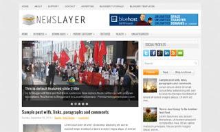NewsLayer Blogger Template
