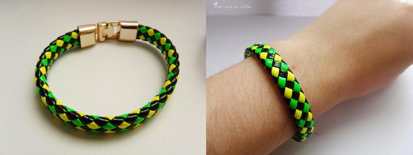 Comprinhas de Outubro de 2013; pulseira verde e amarelo