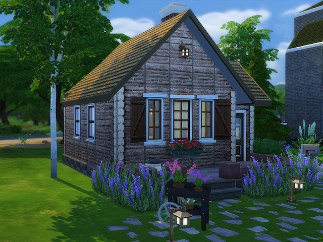 Small Log Cabin Sims 4 Houses