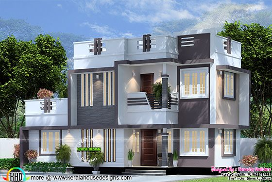 1242 square feet modern house