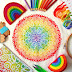 The World In Stitches Modern Spectrum Mandala Cross Stitch Kit