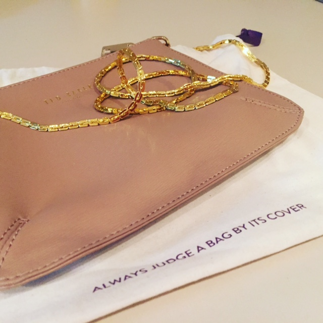 Ted baker cross body bag with gold strap