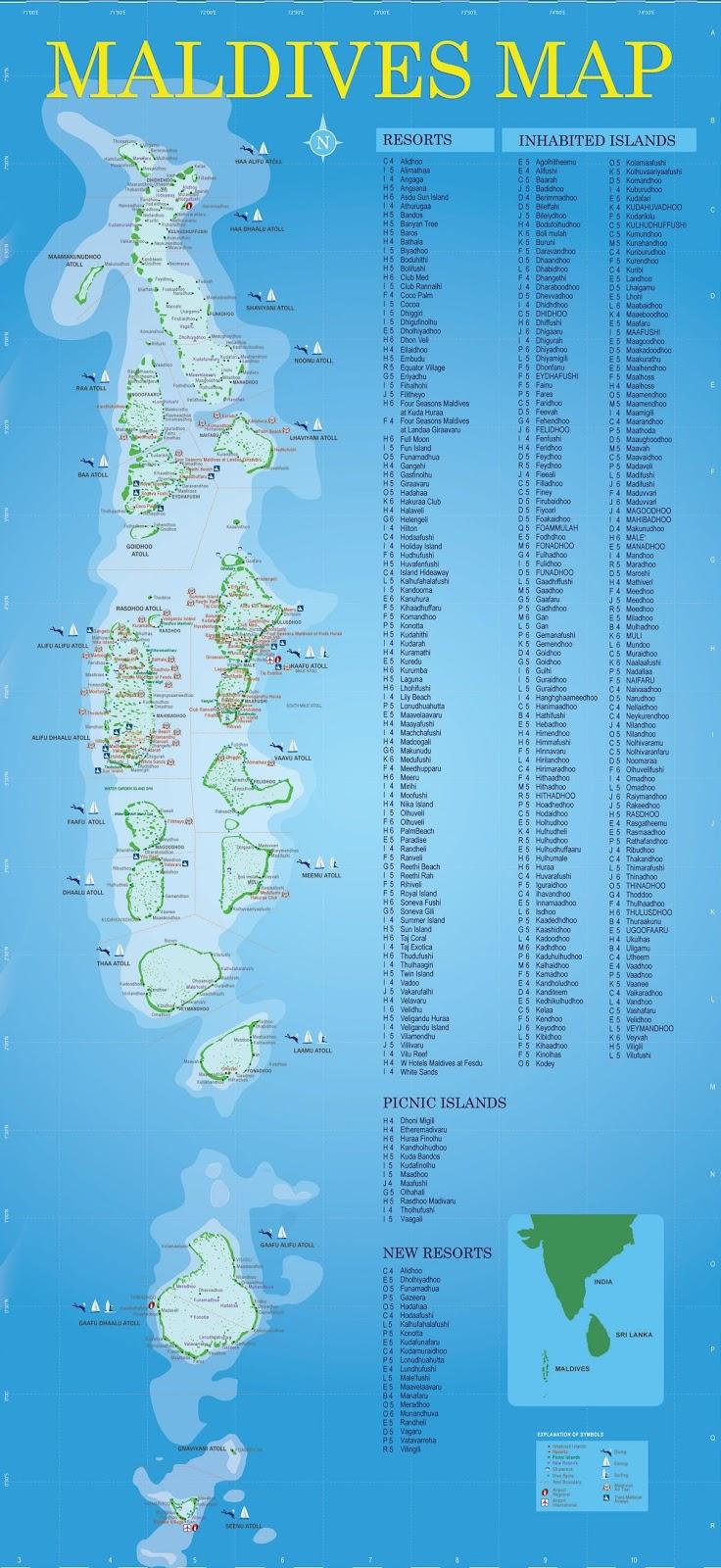 Peta Negara Maladewa