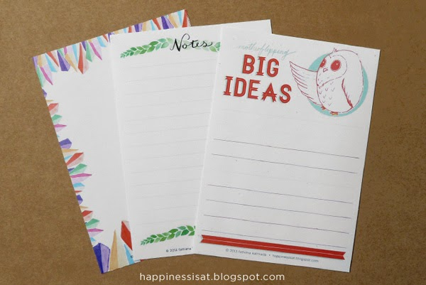 Stationery created by Happiness is - notepads