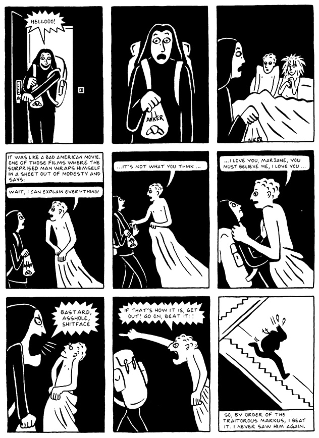 Read Chapter 8 - The Croissant, page 78, from Marjane Satrapi's Persepolis 2 - The Story of a Return