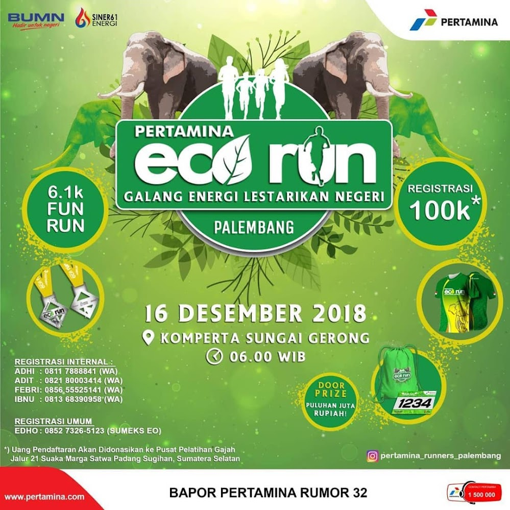 Pertamina Eco Run - Palembang • 2018
