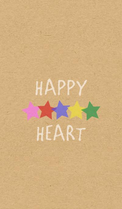 STAR HEART -5color KRAFT- 2