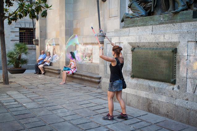 Barcellona-Artista di strada