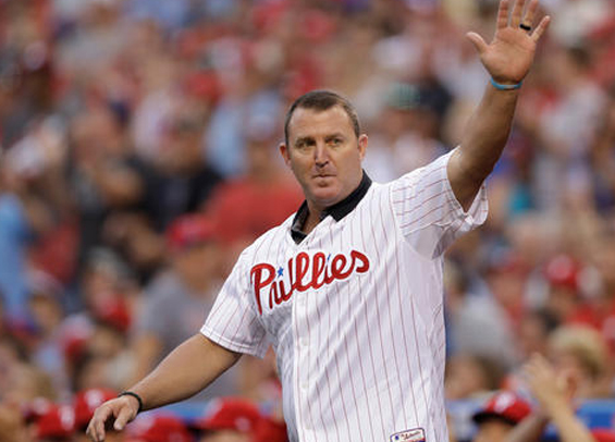 The Phillies will honor Jim Thome prior to today's series finale