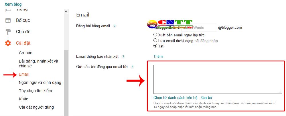 Cách gửi bài viết hàng loạt đến email tự động khi đăng bài viết mới trong Blogspot