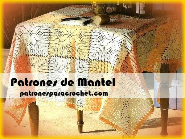 Patrones De Mantel A Crochet Mantel Cuadrado O Rectangular