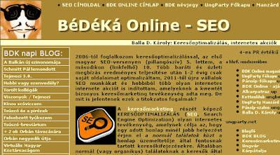 honlap kereső optimalizálás