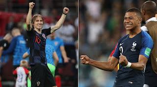 نتيجة مباراة فرنسا وكرواتيا في نهائي كأس العالم 2018 وحصول الديوك الفرنسية علي لقب بطل العالم
