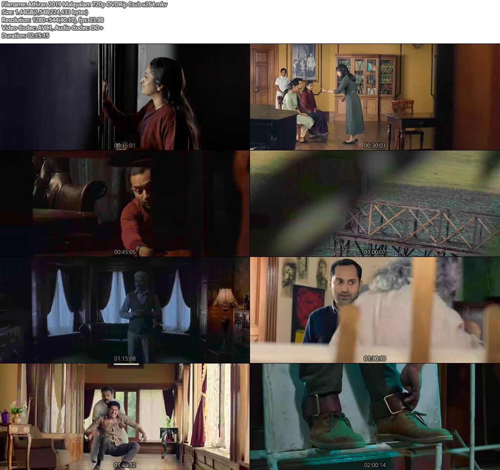 Athiran 2019 Malayalam 720p DVDRip Esub   480p 300MB   100MB HEVC Screenshot