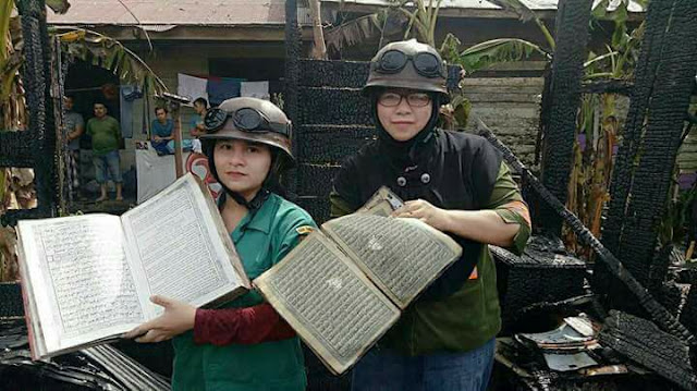 MasyaAllah, Rumah dan Seisinya Ludes Terbakar Namun Al-Qur`an ini Masih Utuh