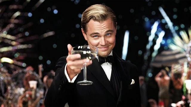 Leonardo di Caprio, na zdrowie! pije