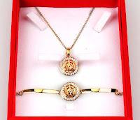 Alfamind Gelang dan Kalung Arroyan Gold 1 Set ANDHIMIND