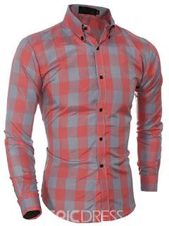 Casual Long Sleeve Plaid Men's Shirt
