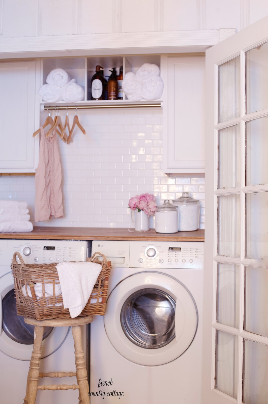 Vintage Laundry Room Renovation Inexpensive For Under 500