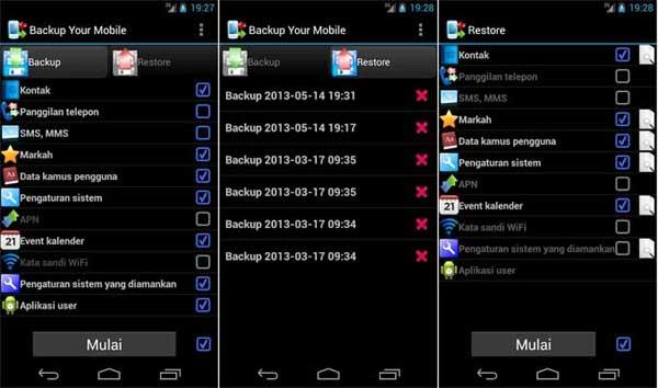 Cara Backup Apps, Contacts, Logs, Messages dan Settings tanpa Root di Android