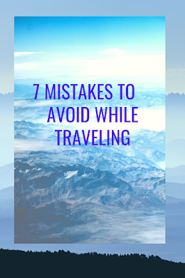 Mistakes in traveling